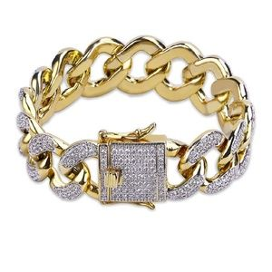 🔥🔥NEW CUBAN STYLE ICED OUT BRACLET🔥🔥